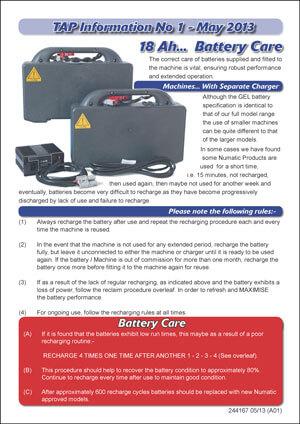 TAP 1 – TTB1840 Battery Care