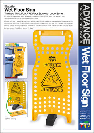 Wet Floor Sign – Advance Product Information