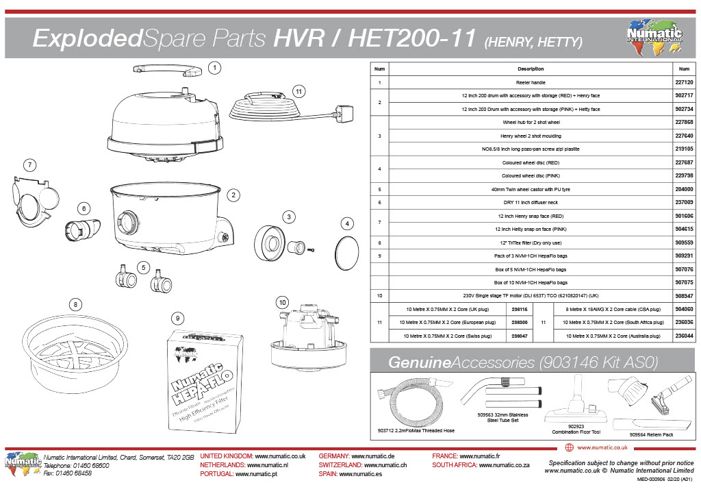 HVR/HET-200 Exploded Drawing