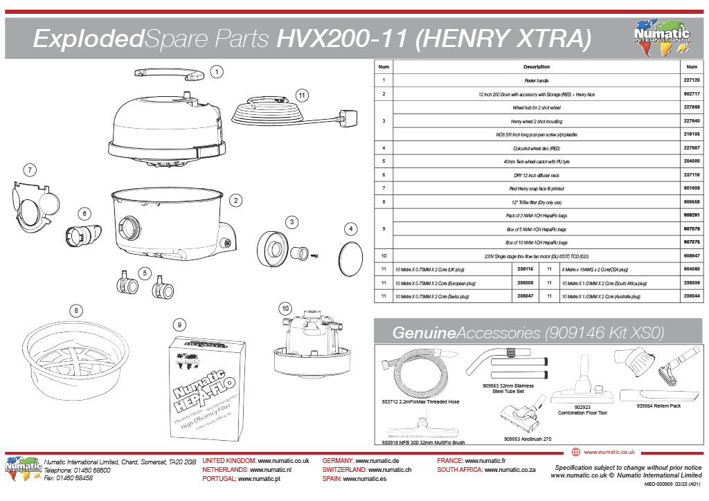 HVX-200 (XTRA)Exploded Drawing
