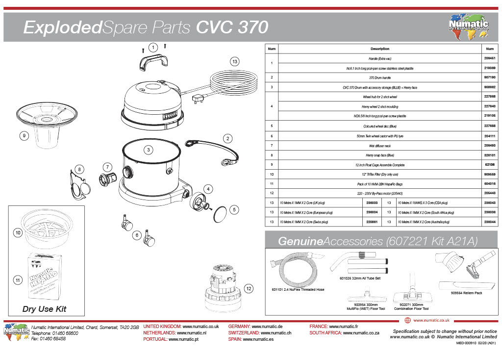 CVC-370 Exploded Drawing