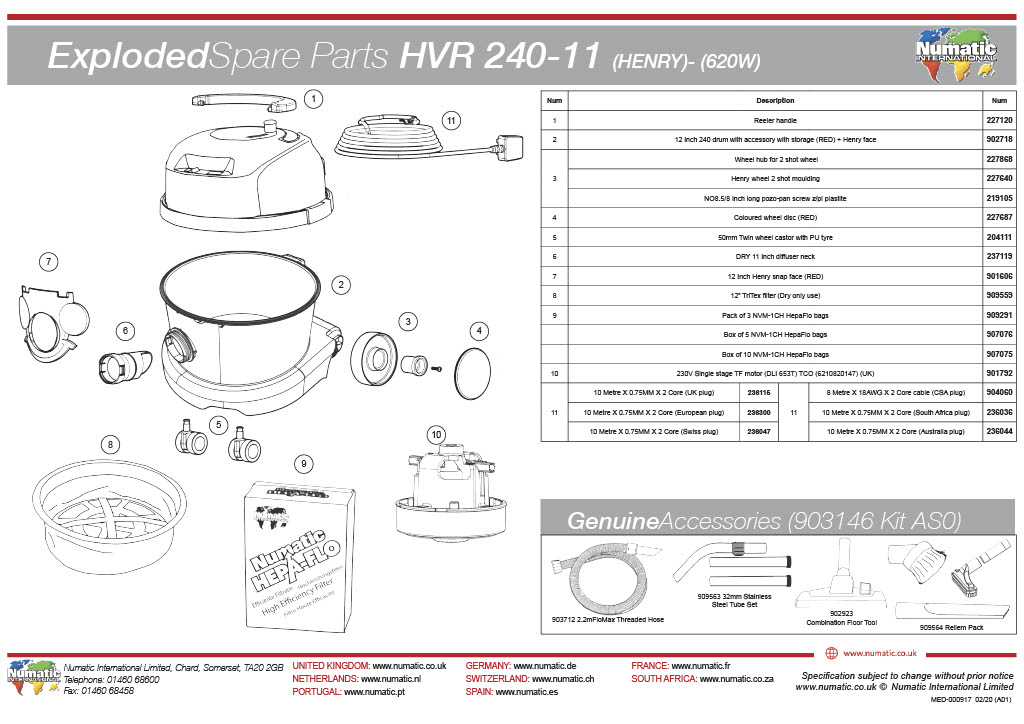 HVR-240 Exploded Drawing