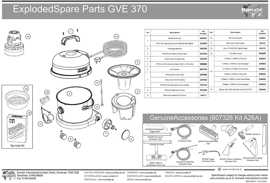 GVE-370 Exploded Drawing