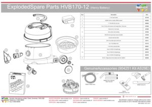HVB 170 Exploded drawing