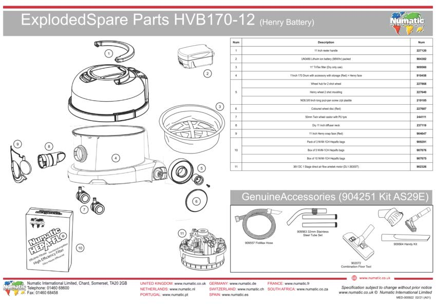 HVB170-1/2 Exploded Drawing
