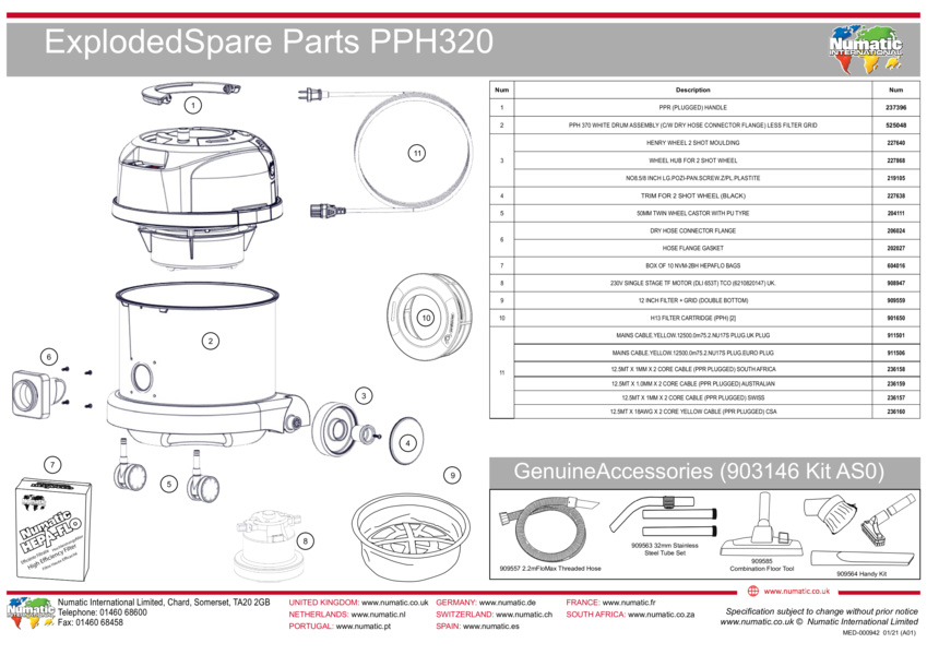 PPH320 Exploded Drawing