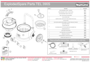 TEL390S Exploded Drawing