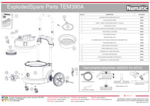 TEM390A Exploded Drawing