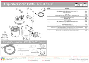 HZC390L Exploded Drawing