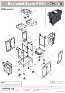 PM24 Exploded Spare Parts Drawing