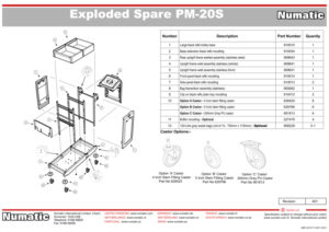 PM-20S Exploded Spare Parts Drawing