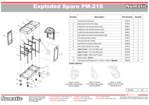 PM-21S Exploded Spare Parts Drawing
