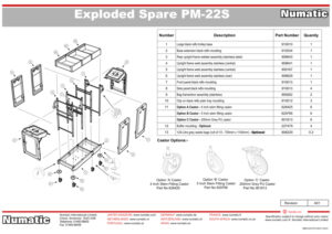 PM-22S Exploded Spare Parts Drawing