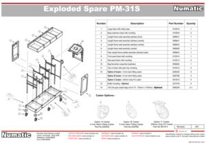 PM-31S Exploded Spare Parts Drawing