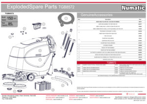 TGB8572 Exploded Spare Parts