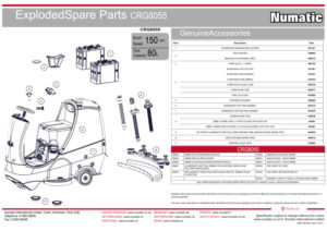 CRG8055 Exploded Spare Parts Drawing