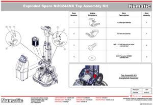 914010 Tap Assembly Kit Assembly Drawing