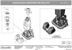 913992 Vac Motor Kit Exploded Drawing